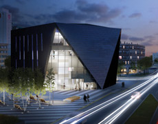 Rendering of the Museum of Contemporary Art at night
