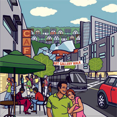 Illustration for Greater University Circle - Showing Little Italy, University Hospitals, Case Western Reserve
