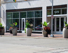 Plantings in front of Idea Center