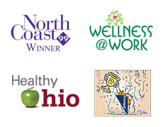 Awards - North Coast 99, Wellness@Work, Healthy Ohio, Prinicpal Top 10 Employers for Financial Stability