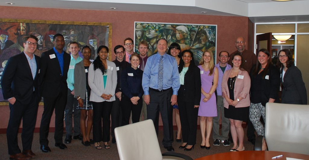 The 2013 Cleveland Foundation Summer Interns (that youthful man in the middle is not an intern but  Cleveland Foundation President and CEO Ronn Richard)