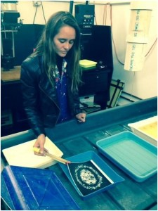 Antonia working in the photo lab - Spring 2015.bmp