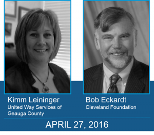 Kimm Leininger United Way Bob Eckardt Cleveland Foundation portraits