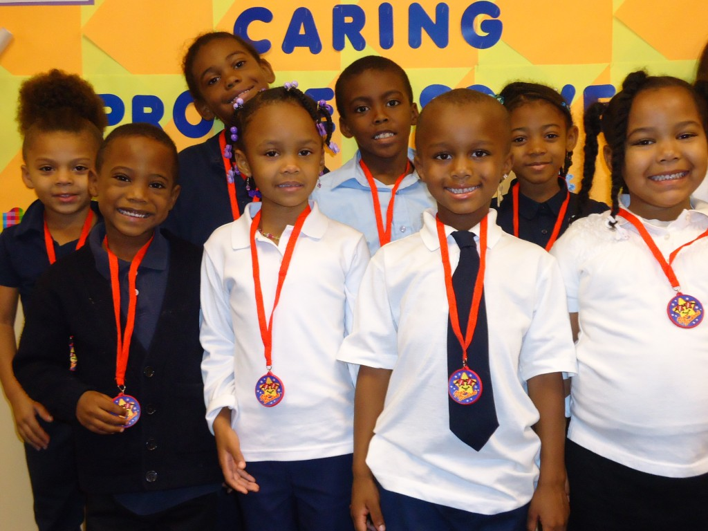 Students at Stepstone Academy are recognized each month for displaying excellent citizenship.
