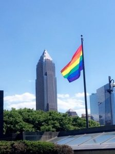 LGBTQ pride flag Cleveland Ohio KeyBank tower