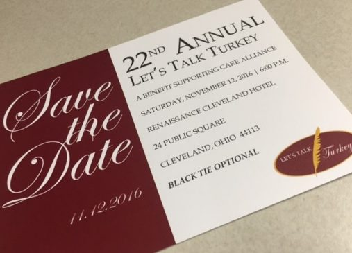 Care Alliance Health Center Cleveland Let's Talk Turkey benefit Thanksgiving invitation