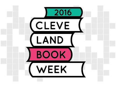 Cleveland Book Week Logo stacked books