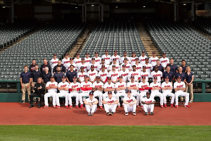 the 2016 Cleveland Indians team photo