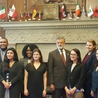 Cleveland Foundation Public Service Fellows pose with Cleveland Mayor Frank Jackson at City Hall