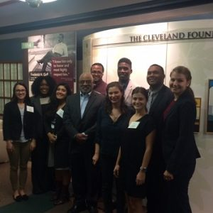 Cleveland Foundation Public Service Fellows pose with former Cleveland Mayor Michael White