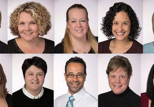 Composite of portraits of Excellence in Teaching award winners
