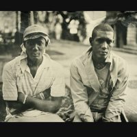 Wet plate photo of two Cuban men