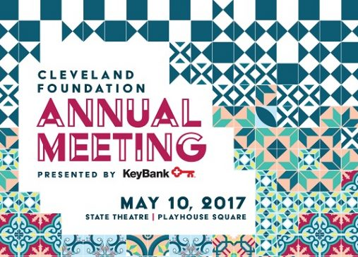 colorful graphic with annual meeting event title and information