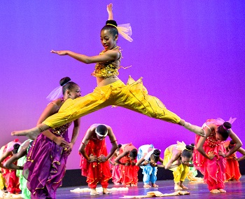 Young dancers from Tri-C Creative Arts Academy perform onstage