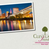 Graphic showing Cleveland skyline at night and Cleveland Foundation Organizational Fund Appreciation Week logo