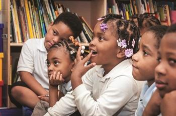 Cleveland Metropolitan School District students sitting in class
