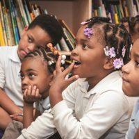 Cleveland Metropolitan School District students sit in class