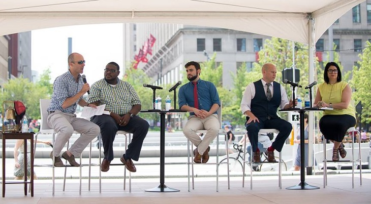Panelists onstage at For the Love of Cleveland event.