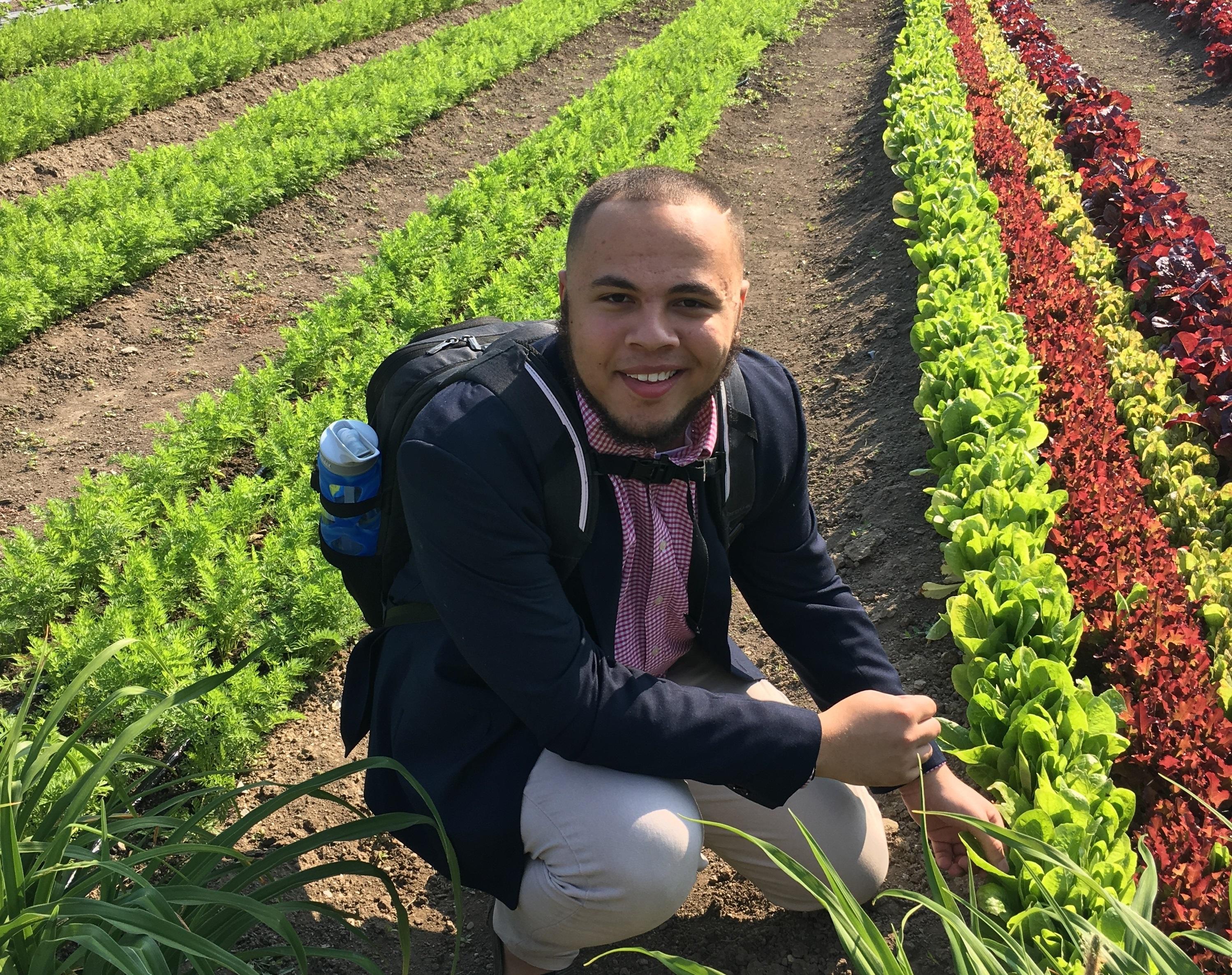 Allosius Snodgrass visits the Ohio City urban farm