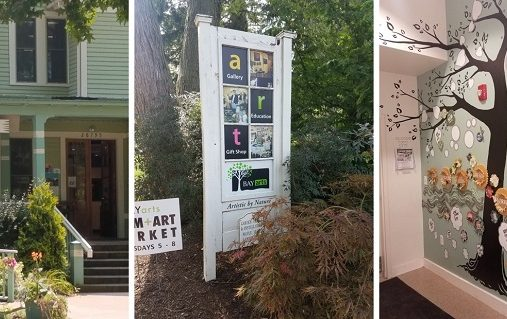 Collage of pictures of Bay Arts facility