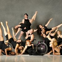 Dancing Wheels dancers pose in group