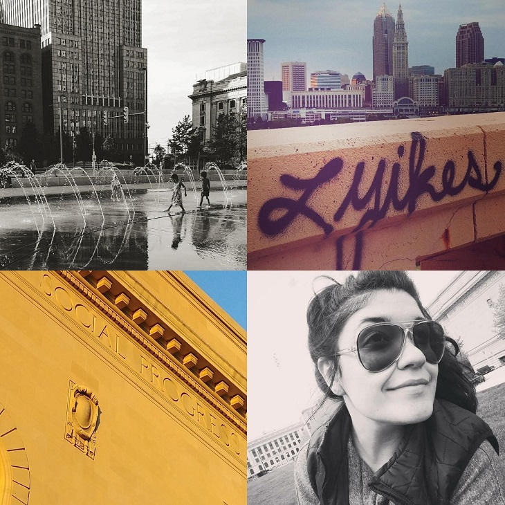 Collage of images of Cleveland scenes