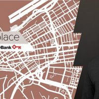 Annual Meeting invite with stylized map of Cleveland and image of Sir David Adjaye