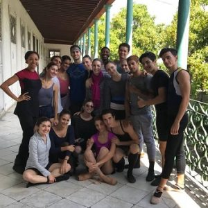 Verb Ballets and ProDanza dancers pose together in Cuba