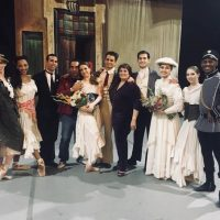 A group of Verb Ballets dancers pose with Laura Alonso