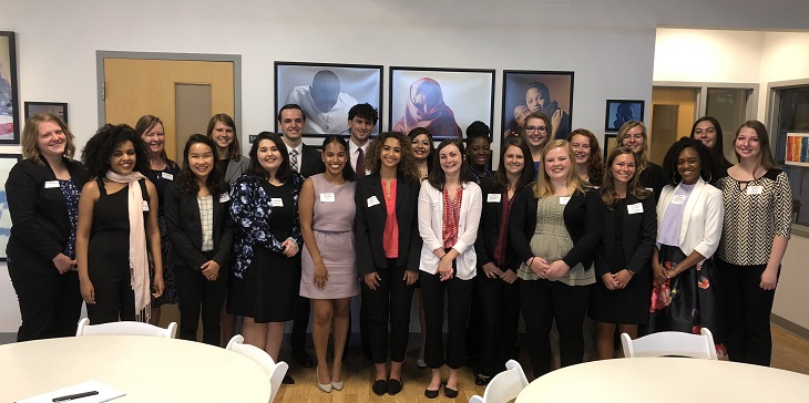 The 2018 Cleveland Foundation Summer Interns pose for a group photo