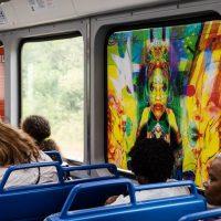 image of painting on train car window