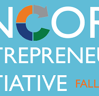 Encore Entrepreneur Initiative logo on blue background