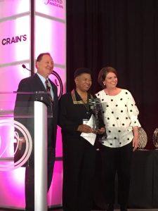 Women of Note Legacy Award winner Dee Perry with Ronn Richard and Elizabeth McIntyre
