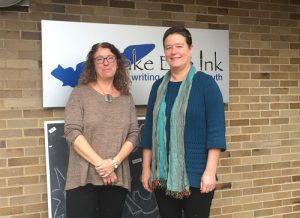 Amy Rosenbluth, Executive Director, and Cynthia Larsen, Lead Teacher and Curriculum Specialist, of Lake Erie Ink.