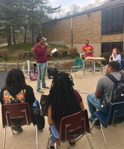 Teens sharing poetry at Lake Erie Ink's Spring Open Mic night