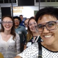 Cristina and fellow interns pose for a selfie at MAGNET