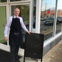 Brandon Chrostowski, Founder, President & CEO of EDWINS Leadership & Restaurant Institute, outside his organization's new butcher shop in Buckeye
