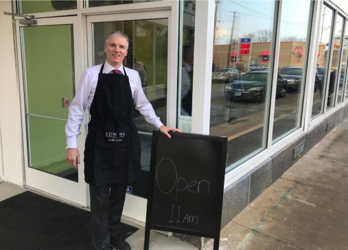 Brandon Chrostowski, Founder, President & CEO of EDWINS Leadership & Restaurant Institute, outside his organization's new butcher shop in Buckeye