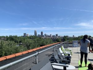 rooftop yoga at tremont athletic club