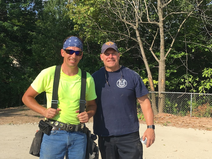 Barry Dijulis, Apprentice Instructor, Cement Masons Local Union 404, and Keith Sulzer, Captain, Bureau of Community Policing and Liaison Officer, Cleveland Police Foundation