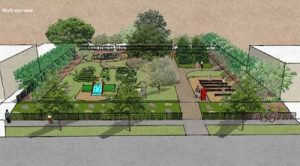 Rendering of Derek Owens Memorial Park at 10312 Parkview Avenue.