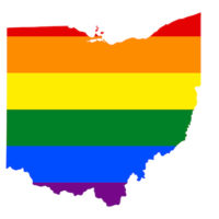 State of Ohio in Rainbow Colors