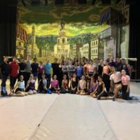 Cleveland Havana Ballet in front of the village set of Romeo and Juliet