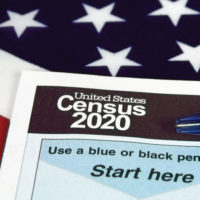 American Flag with Census Form