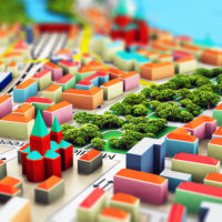 colorful image of miniature city