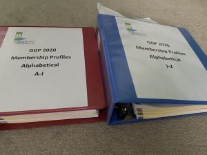 Two binders from Geauga Growth Partnership