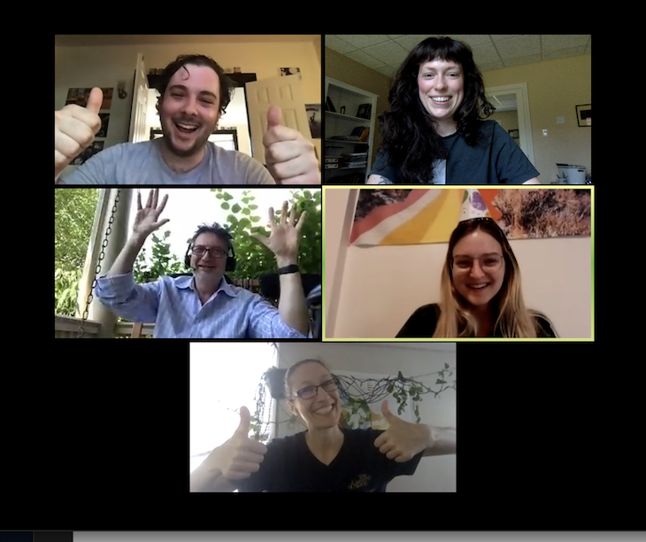 Screen shot of a zoom conference