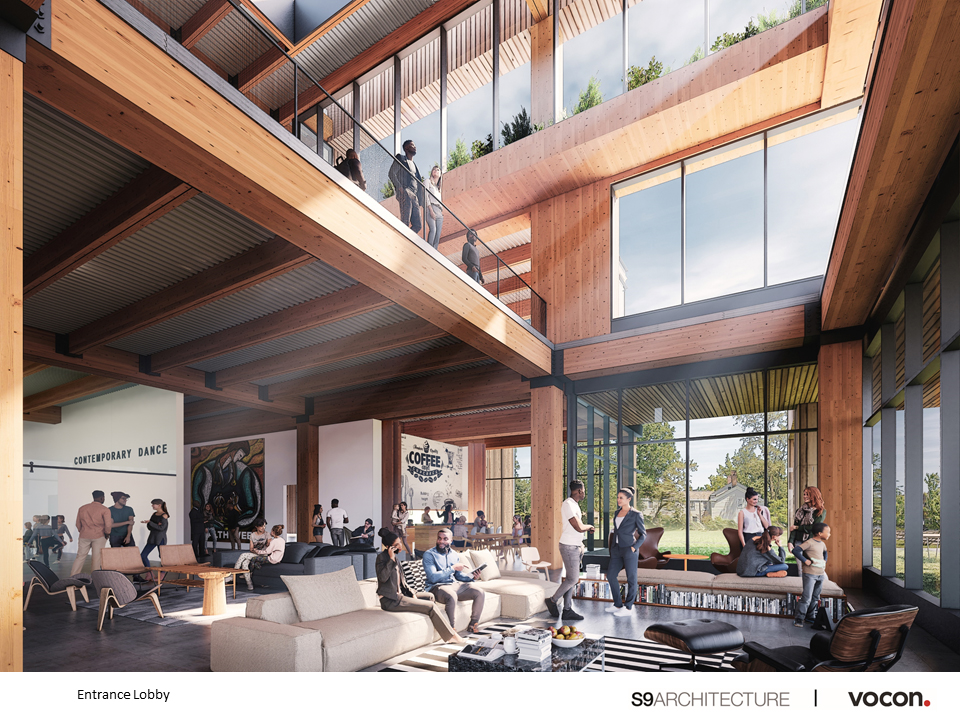 Cleveland Foundation main lobby rendering