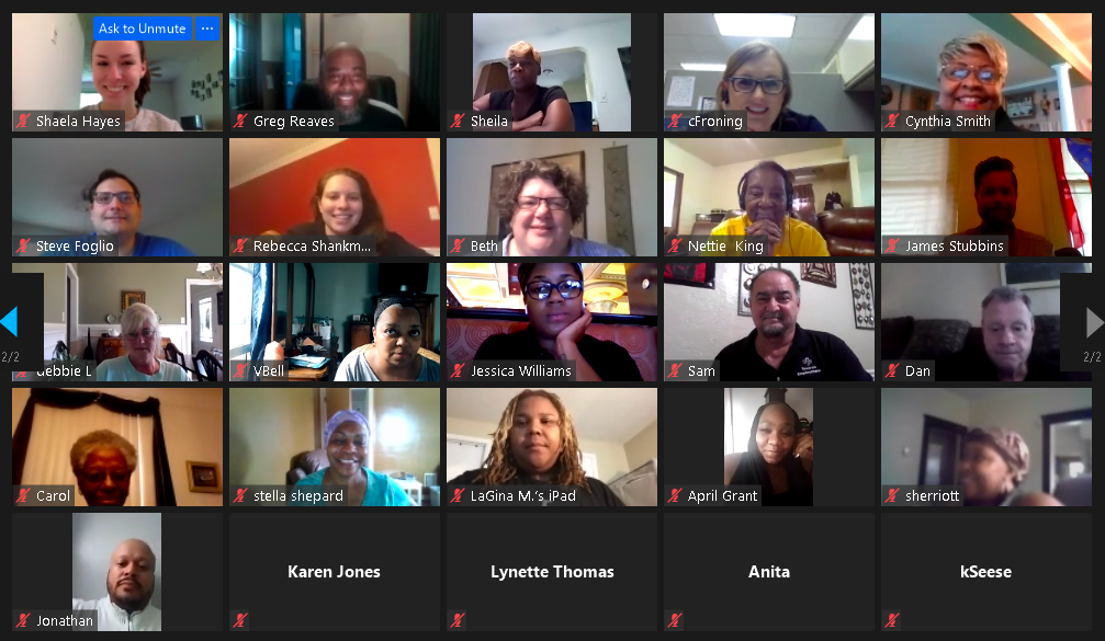 Picture of Zoom Meeting