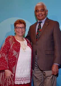 Urban League of Greater Cleveland President Marsha A. Mockabee with Steve Minter